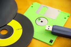 Various Digital Data Storage Devices Royalty Free Stock Photography