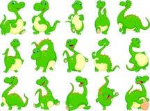 Various dinosaur cartoon Royalty Free Stock Image