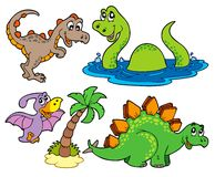 Various dinosaur collection. Illustration Royalty Free Stock Image