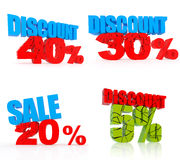 Various discount icon set Stock Image