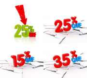 Various discount icon set Royalty Free Stock Photo