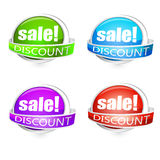 Various discount tags Stock Image