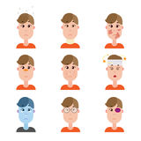 Various disease avatars. Royalty Free Stock Photo