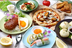 Various dishes in the world Royalty Free Stock Photos