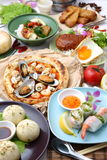 Various dishes in the world Stock Photography