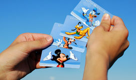 Various Disney World Admittance Cards Royalty Free Stock Photo
