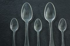 Various disposable spoons Royalty Free Stock Image