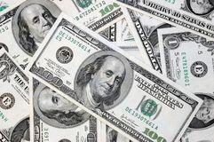 Various dollar bills Stock Image