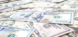 Various dollar notes background Stock Image