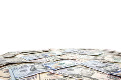 Various dollar notes background Royalty Free Stock Photos