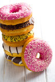 Various donuts royalty free stock photography