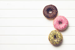 Various donuts royalty free stock photo