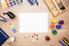 Various drawing tools Stock Photography