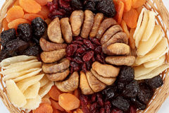 Various dried exotic fruits Stock Images