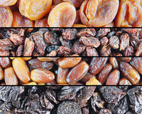 Various Dried Fruits royalty free stock images