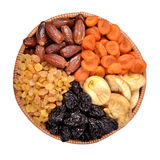 Various dried fruits in bowl Royalty Free Stock Photography