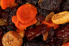 Various dried fruits close-up Royalty Free Stock Images