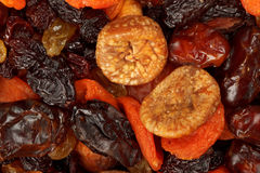 Various dried fruits close-up Stock Images