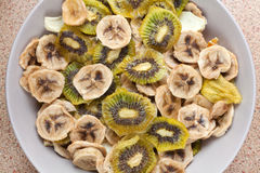 Various dried fruits Stock Images