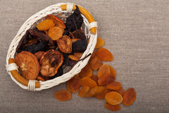 Various dried fruits. (pear, apple, apricot Royalty Free Stock Photography