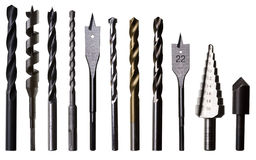 Various Drill Bits For Metal, Wood And Masonry Stock Photography