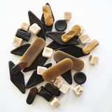 Various Dutch licorice candy stock images