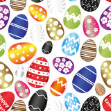 Various Easter eggs color design with decoration elements seamless pattern eps10 Royalty Free Stock Images