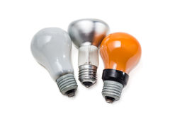 Various electric incandescent lamp Royalty Free Stock Image