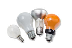 Various electric incandescent lamp Stock Photography