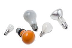 Various electric incandescent lamp Stock Images