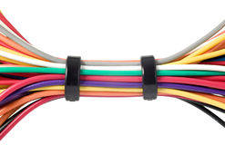 Various electric wires. In many colors, technology Stock Photo