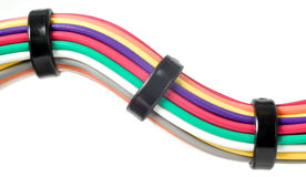 Various electric wires. In many colors, technology Stock Photos