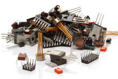 Various electronic components Royalty Free Stock Photo