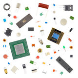 Various electronic components Royalty Free Stock Image