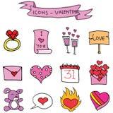 Various element valentine days vector. Art illustration Royalty Free Stock Photo