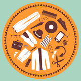 Various elements hipster style clothing & accessories Stock Images
