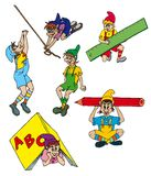 Various elves collection Royalty Free Stock Photos