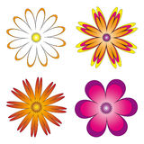 Various embodiments of flowers. There is a vector version Stock Photos