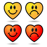 Various emoticons Stock Images