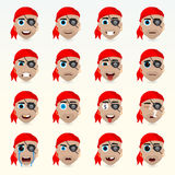 Various emotions of the character. Set of avatar icons. Royalty Free Stock Photo