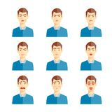 Various emotions illustration Stock Images