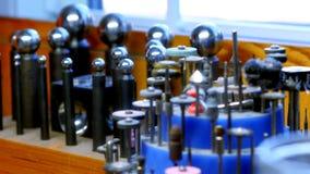 Various equipments of craftsman. In workshop 4k stock video footage