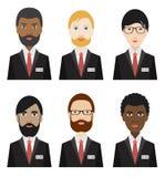 Various ethnicity business men. Stock Photo