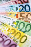 Various Euro banknotes Stock Images