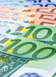 Various euro bills Stock Image