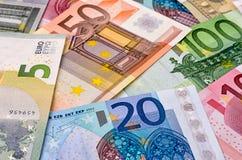 Various euro bills Stock Image