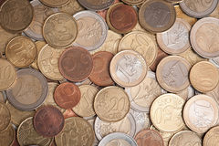 Various euro coins Stock Image