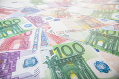 Various euro notes background Stock Image