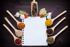 Various exotic spices Royalty Free Stock Photos