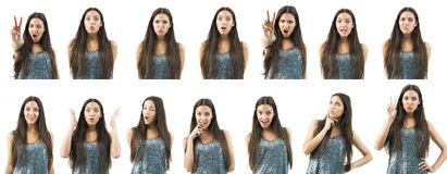 Various expressions Royalty Free Stock Photo